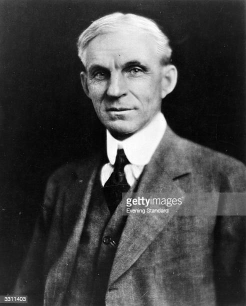 A portrait of the American motor manufacturer Henry Ford