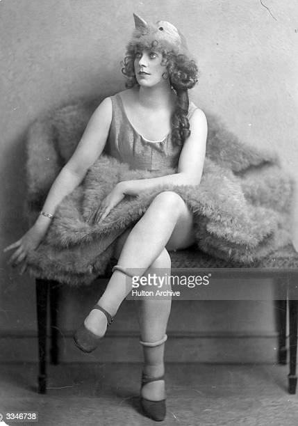 Actress Dorothy Hazel in costume for 'By the Way' a revue at London's Apollo Theatre