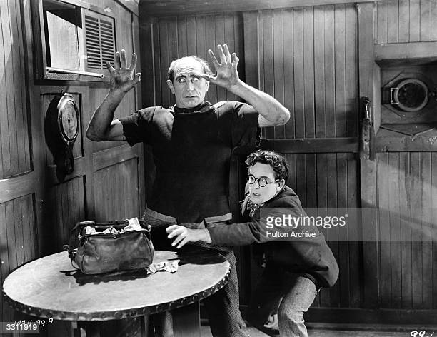 Comedian Harold Lloyd involved in a holdup