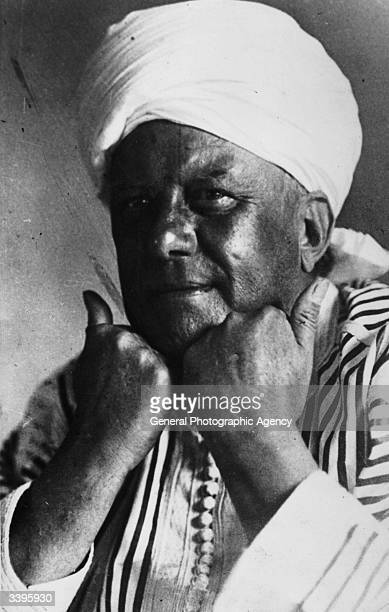 English writer and magician Aleister Crowley dressed as a Hindu priest