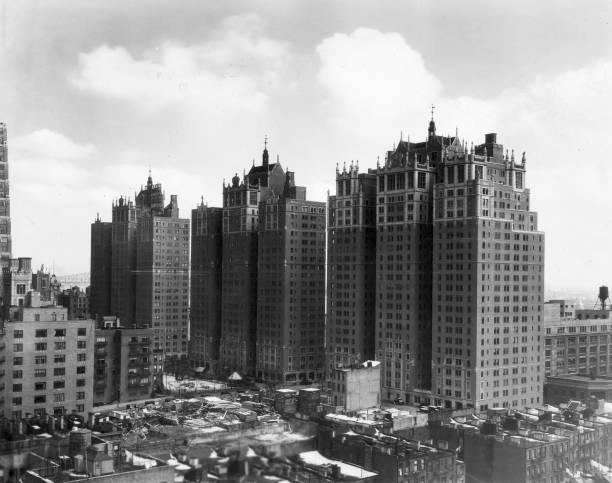 Exterior view of the Tudor City apartment complex,...