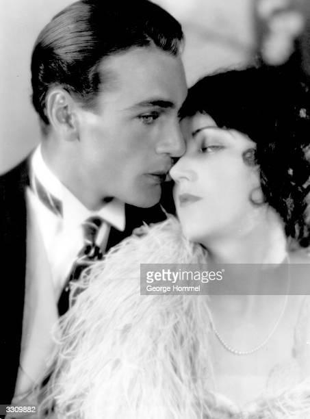 Gary Cooper the Paramount Pictures Hollywood actor embracing Fay Wray star of 'King Kong'