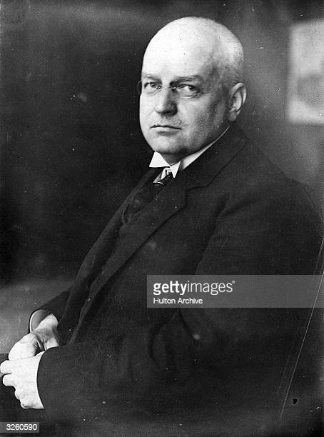 German banker Hans Luther the president of the Reichsbank of Germany who went to London in an endeavour to raise a loan of £100 million