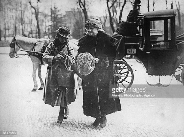 German Communist leader Clara Zetkin known as Red Clara and a companion