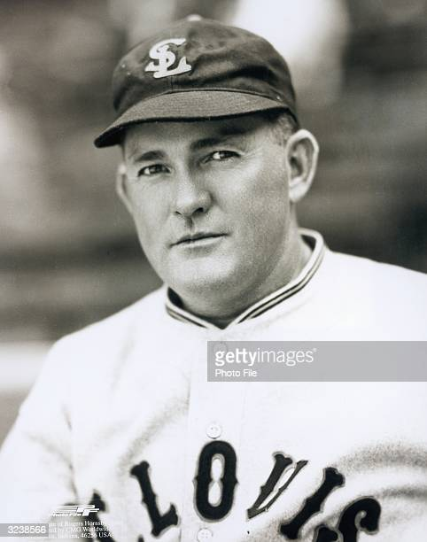 Headshot portrait of St Louis Cardinals infielder and manager Rogers Hornsby in his uniform