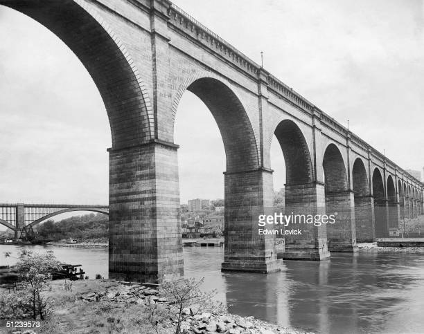 Circa 1925 High Bridge across the Harlem River New York City 1920s High Bridge is part of the Croton Aqueduct which brings water to the city from the...