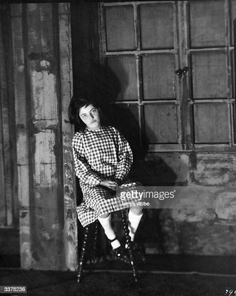 Jacqueline Brizard a member of the Grand Guignol theatre company at their 'theatre of horrors' in Paris