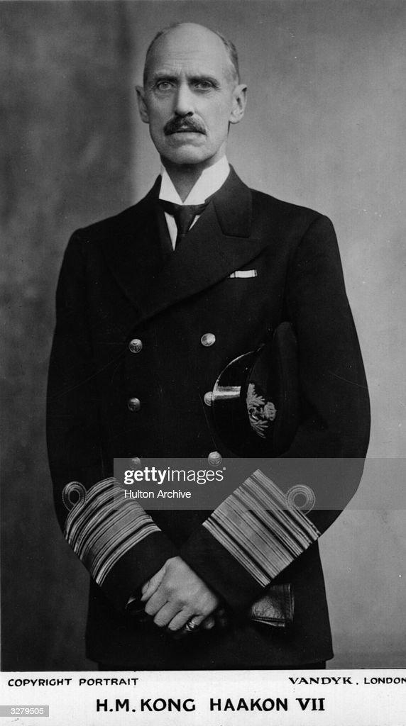 King Haakon VII of Norway (1873 - 1957).
