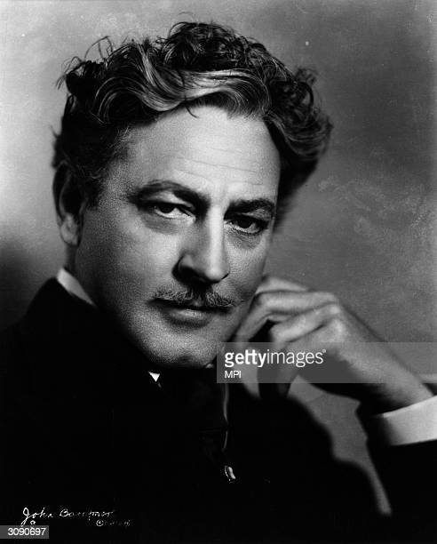 Stage and film actor John Barrymore the brother of Ethel and Lionel