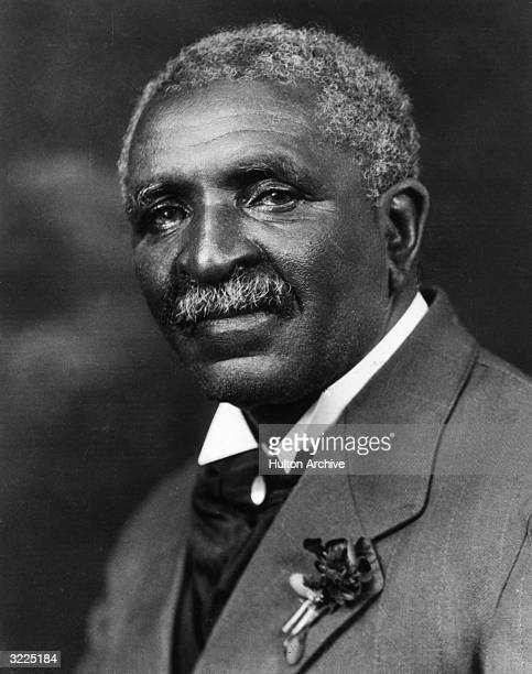 Studio portrait of Doctor George Washington Carver a scientist and professor at Tuskegee Institute in Alabama