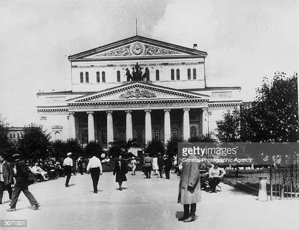 The Bolshoi Theatre Moscow an example of Russian neoclassic architecture