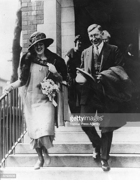 The wedding of scientist Dr Frederick Banting to Miss Marion Robertson in Toronto