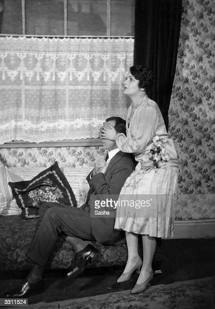 Clare Higgins and William Stack in a scene from the play `Distinguished Villa' performed at the Little Theatre