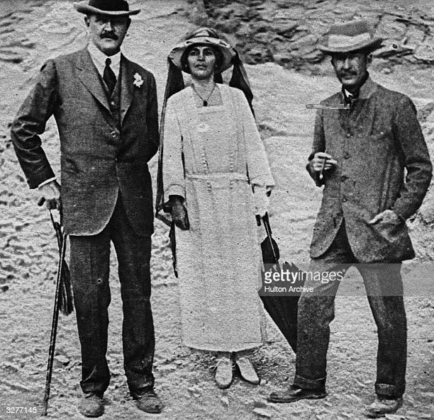 General Edmund Henry Hynman Allenby High Commisioner in Egypt from 1919 1925 with his wife Lady Adelaide and archaeologist George Herbert Fifth Earl...