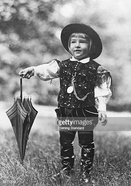 The future King of Yugoslavia the young Crown Prince Peter dressed in a peasant's costume