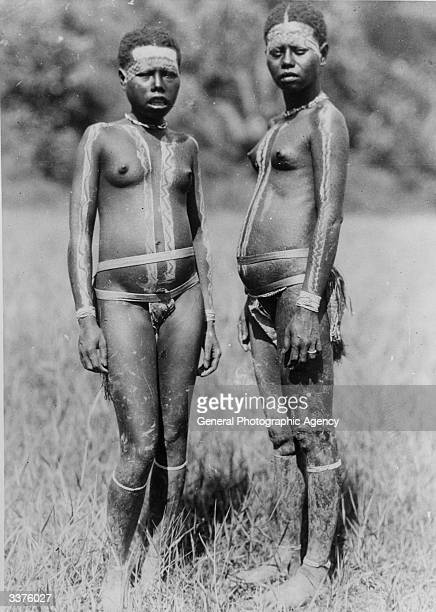 Two pygmies inhabitants of the Andaman Islands of eastern India