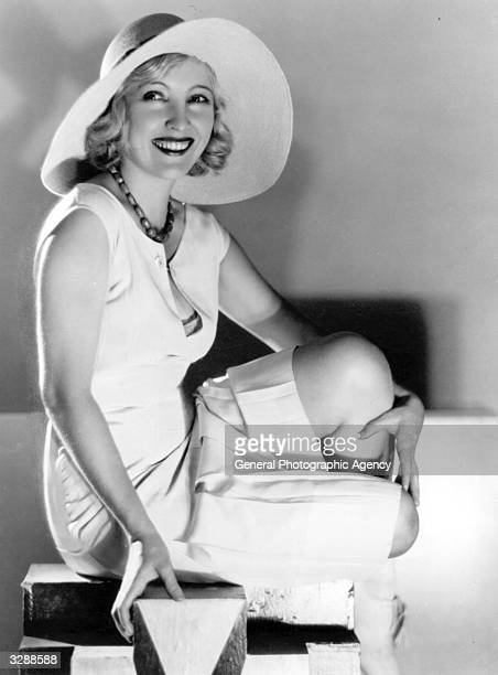 Bessie Love the Hollywood actress and MGM player posing happily