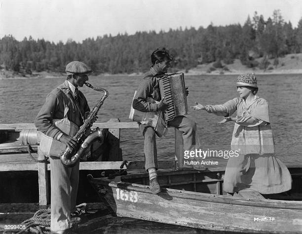 Janet Gaynor during a break in filming the Fox production of 'Sunrise' directed by F W Murnau