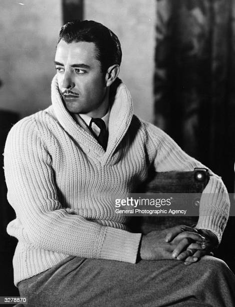 John Gilbert the US film star in relaxed mood