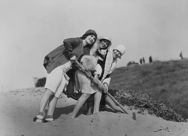 Flappers On The Beach