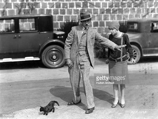 American comic actor Charley Chase with Edna Marion