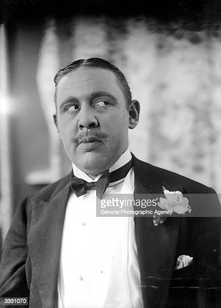 English born actor Charles Laughton playing the part of Agatha Christie's famous detective Hercule Poirot in 'Alibi'