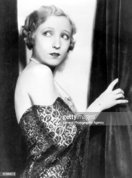 Hollywood actress Bessie Love an MGM player in an 'off the shoulder' dress