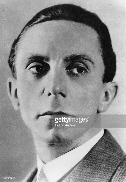 Paul Joseph Goebbels the Nazi propaganda minister in Hitler's cabinet council