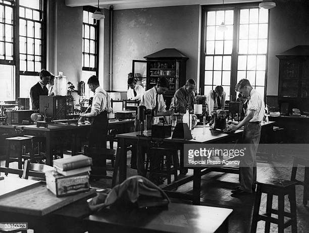 Students in a Biological Laboratory at Highgate School