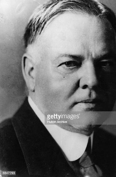 Close-up of Herbert Hoover , the 31st President of the United States.