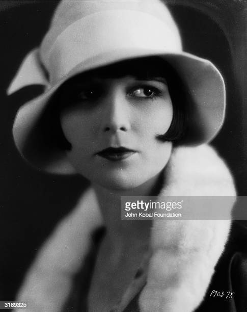 American actress Louise Brooks wearing a cloche hat