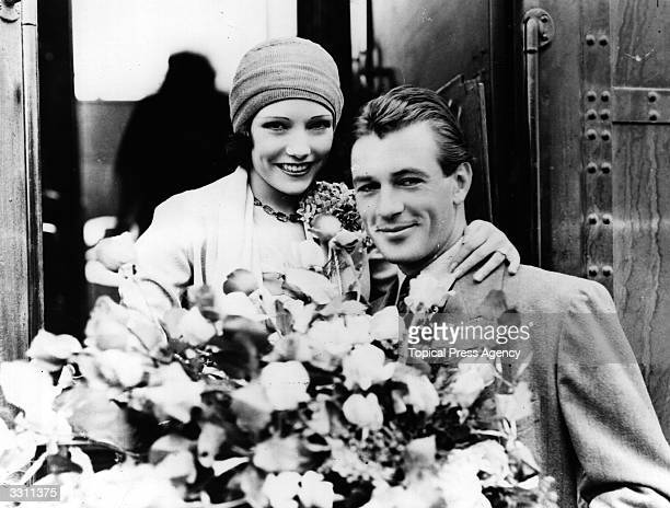 Film stars Lupe Velez and Gary Cooper .