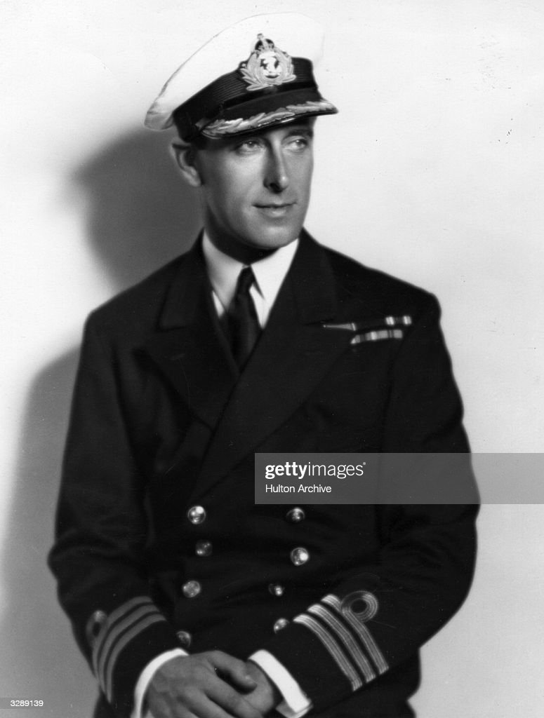 1st Earl Mountbatten in his naval uniform.