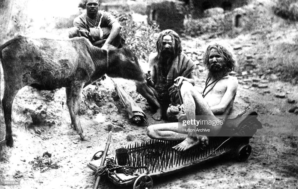 A Fakir Or Sadhu Sitting On A Bed Of Nails Which Is On Wheels News