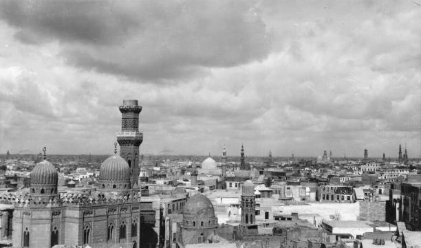 A view of Cairo, showing its minarets and mosques.