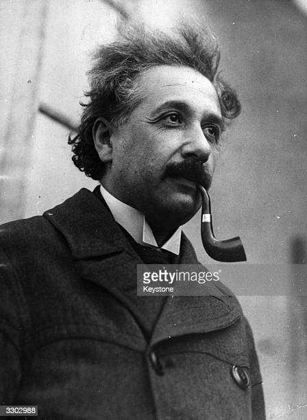 Albert Einstein American physicist and mathematical genius, born in Germany.