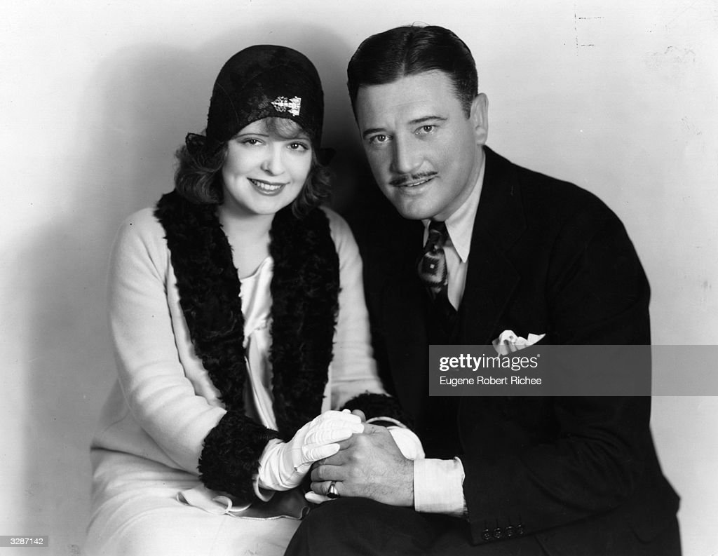 American actress Clara Bow, the 'It' girl, with actor Richard Dix.