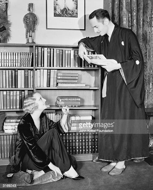 American film actress Carole Lombard with her husband William Powell whom she later divorced to marry Clark Gable