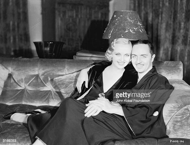 American film actress Carole Lombard with her husband actor William Powell