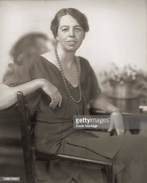 American humanitarian and social activist Eleanor Roosevelt the wife of Franklin Delano Roosevelt who was elected President of the United States in...