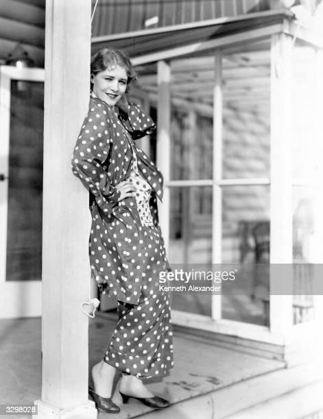 AustroHungarian actress Vilma Banky outside her Malibu beach house