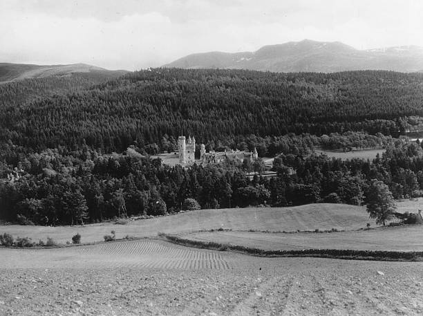 Balmoral Castle, a Royal residence on the River Dee...