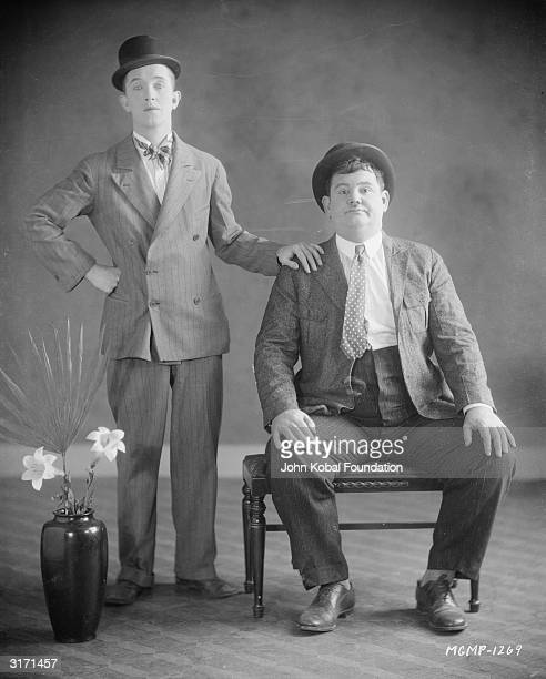 Comic doubleact Stan Laurel and Oliver Hardy