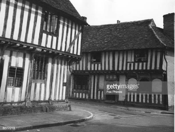 Elizabethan Tudor houses at Lavenham Suffolk