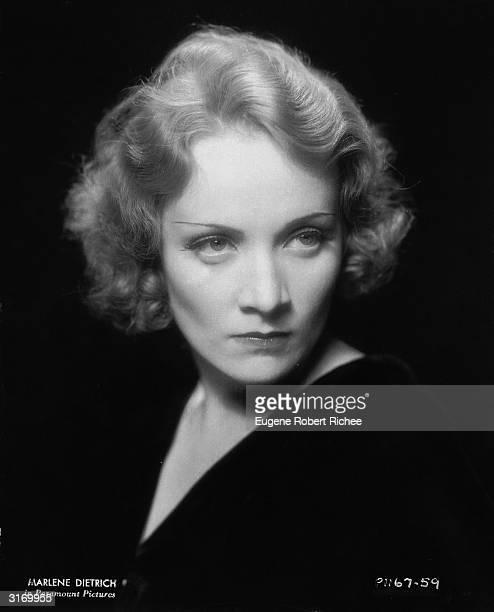 German actress and 'love goddess' Marlene Dietrich .