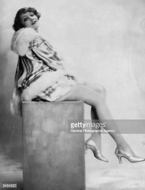 German actress Marlene Dietrich .