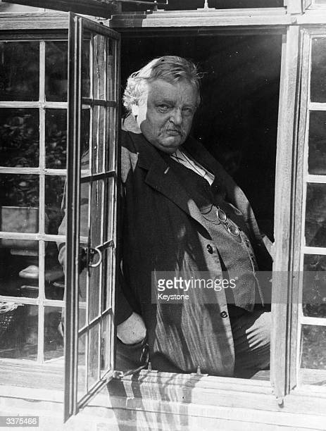Gilbert Keith Chesterton the English writer known for his witty and satirical works along with his detective novels following the fortunes of the...