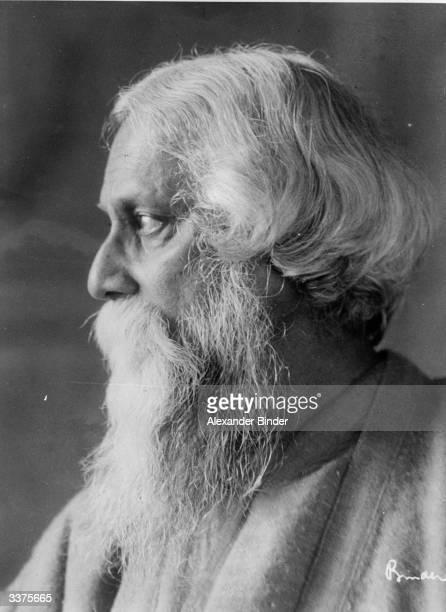 Indian poet philosopher and winner of the 1913 Nobel Prize for Literature Rabindranath Tagore