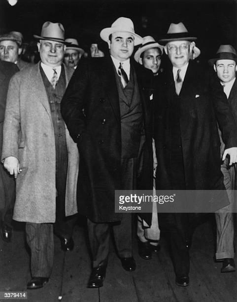 ItalianAmerican gangster Al Capone with US Marshal Laubenheimer