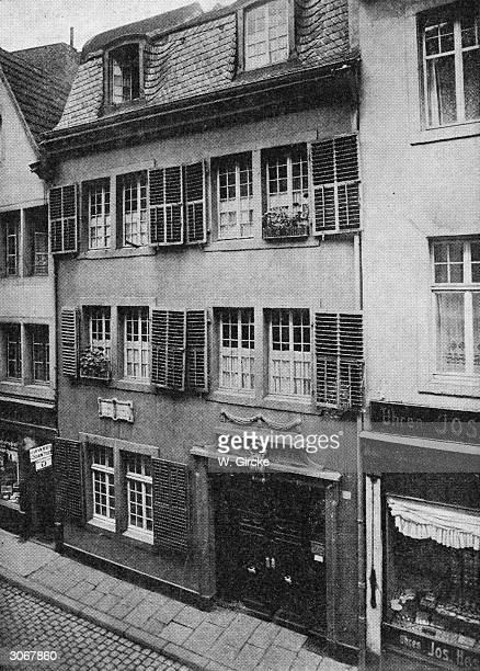 Ludwig van Beethoven's birthplace at 515 Bonngasse Bonn Germany